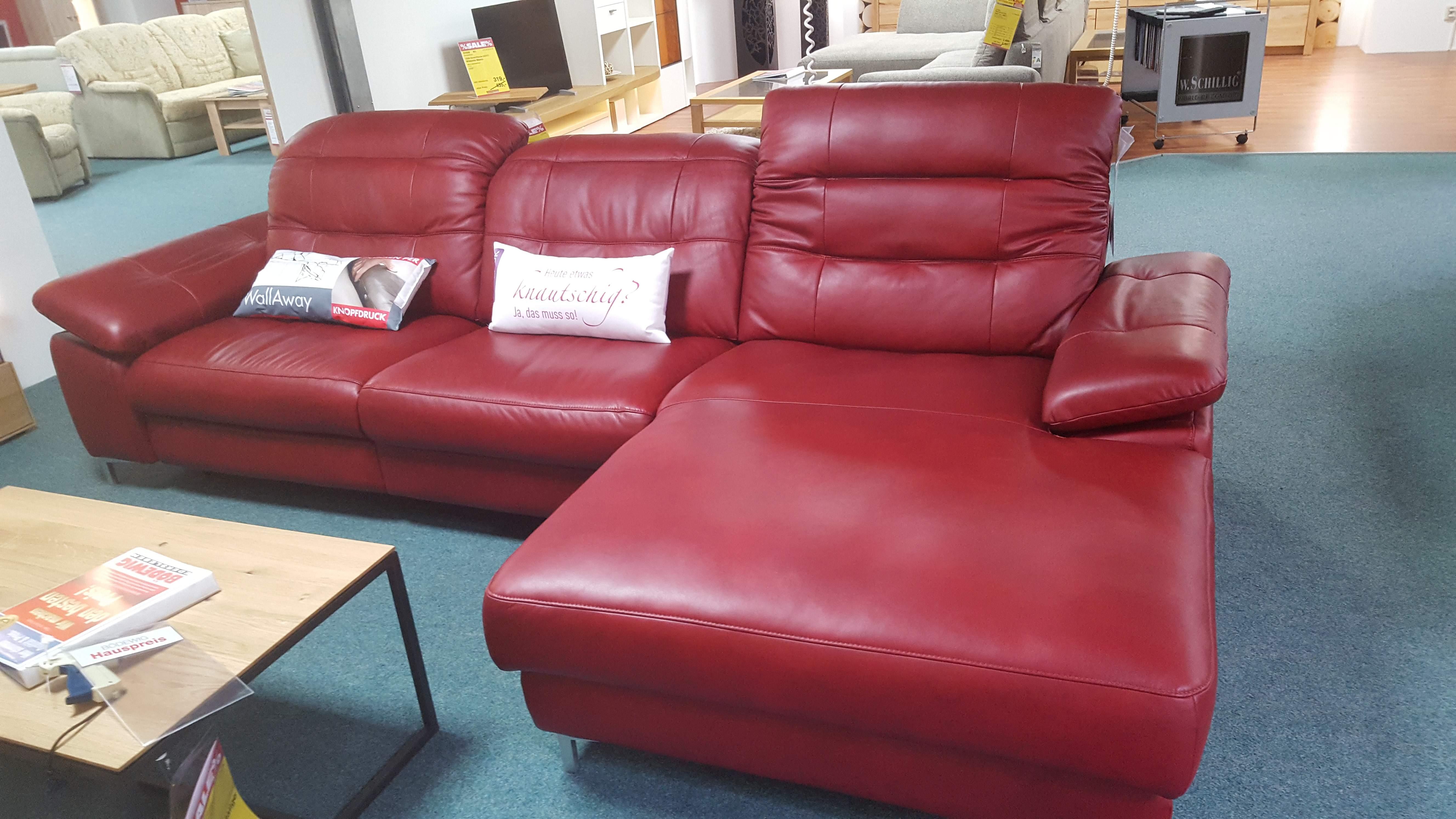 Echt-Leder-Garnitur Rot 448020