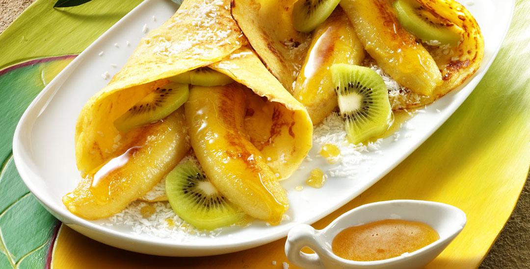 Pfannkuchen m Honig-Bananen1